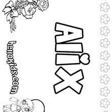 Girl Name Coloring Pages