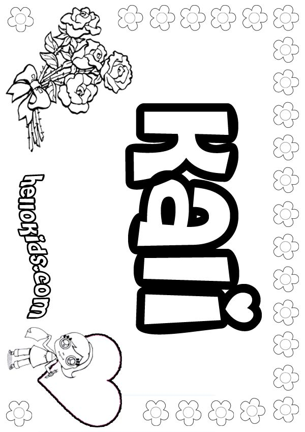 Girl Name Coloring Pages At Getdrawings Com Free For