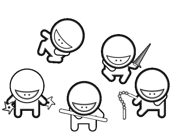 587x469 Print Download The Attractive Ninja Coloring Pages For Kids