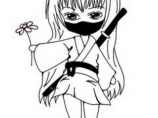 320x240 Girl Ninja Coloring Pages Coloring Pages Color In Drawings