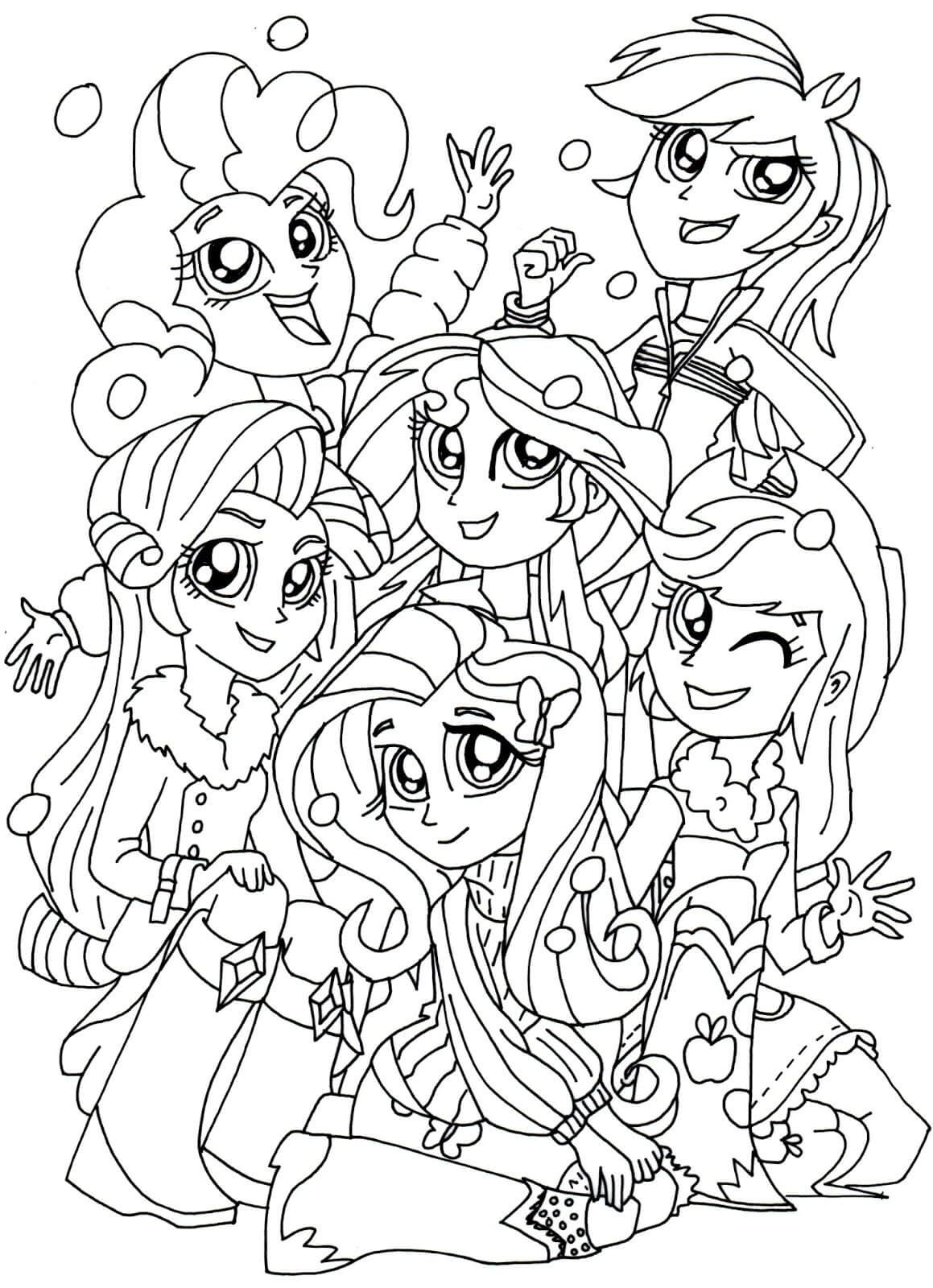 1159x1600 Equestria Girls Coloring Pages My Little Pony