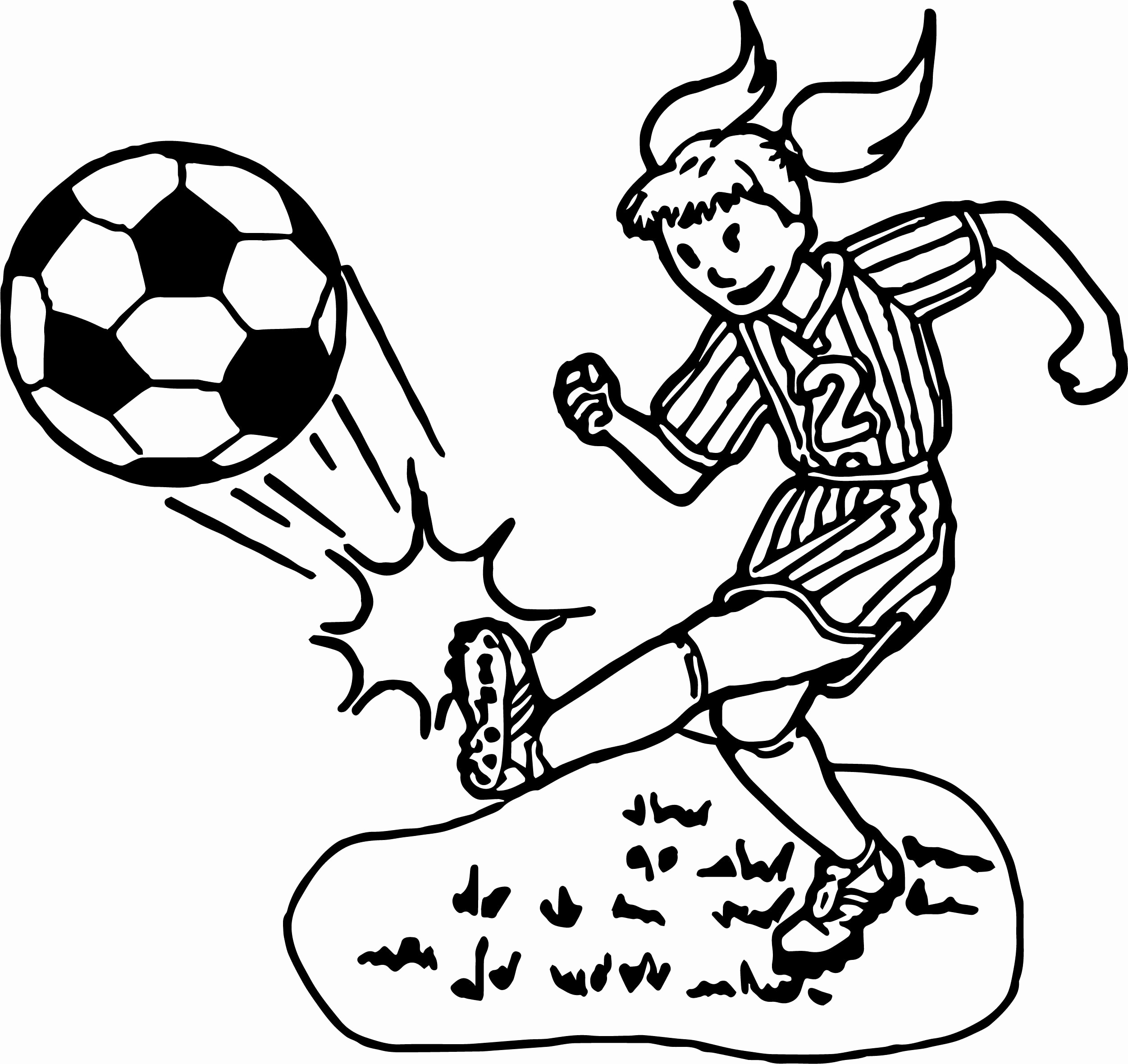Girl Playing Soccer Coloring Pages at GetDrawings   Free download
