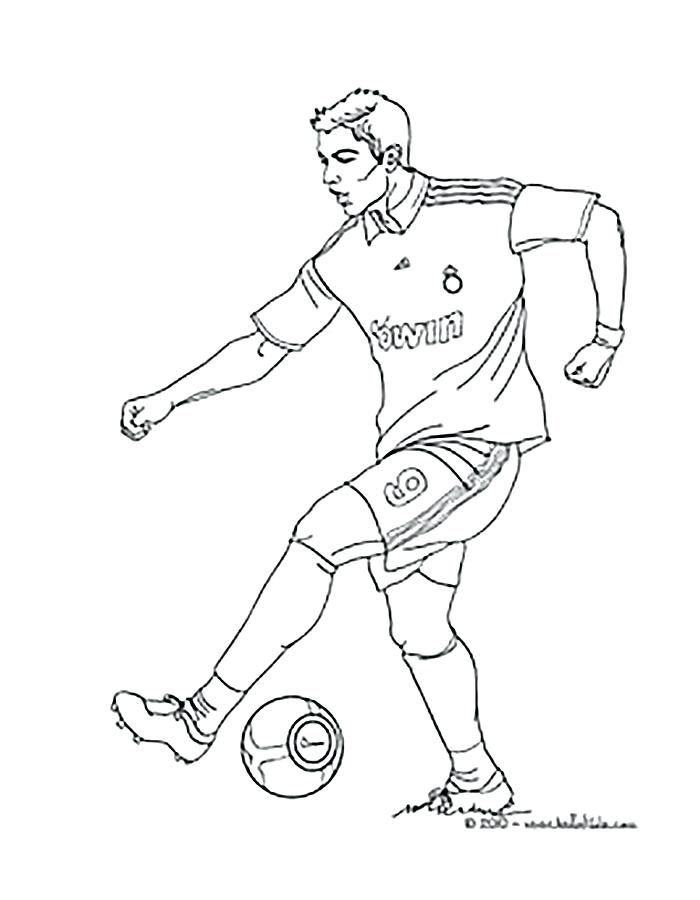 700x900 Soccer Player Coloring Pages Football Player Coloring Page Running