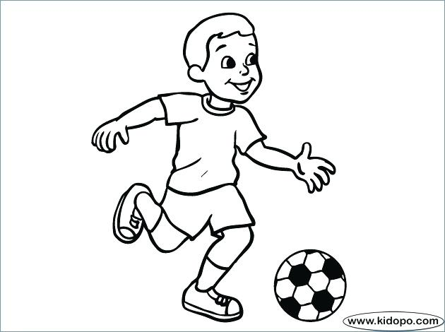 630x470 Coloring Page Soccer Playing Soccer Coloring Page Girl Playing