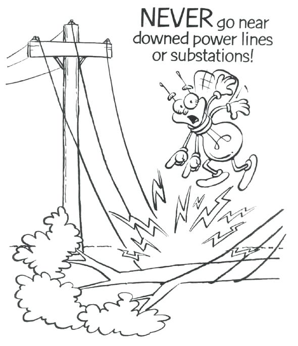590x686 Electricity Coloring Pages Electricity Safety Colouring Pages Page