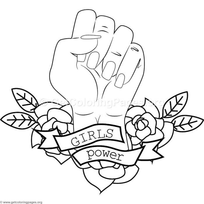 700x700 Girls Power Coloring Pages