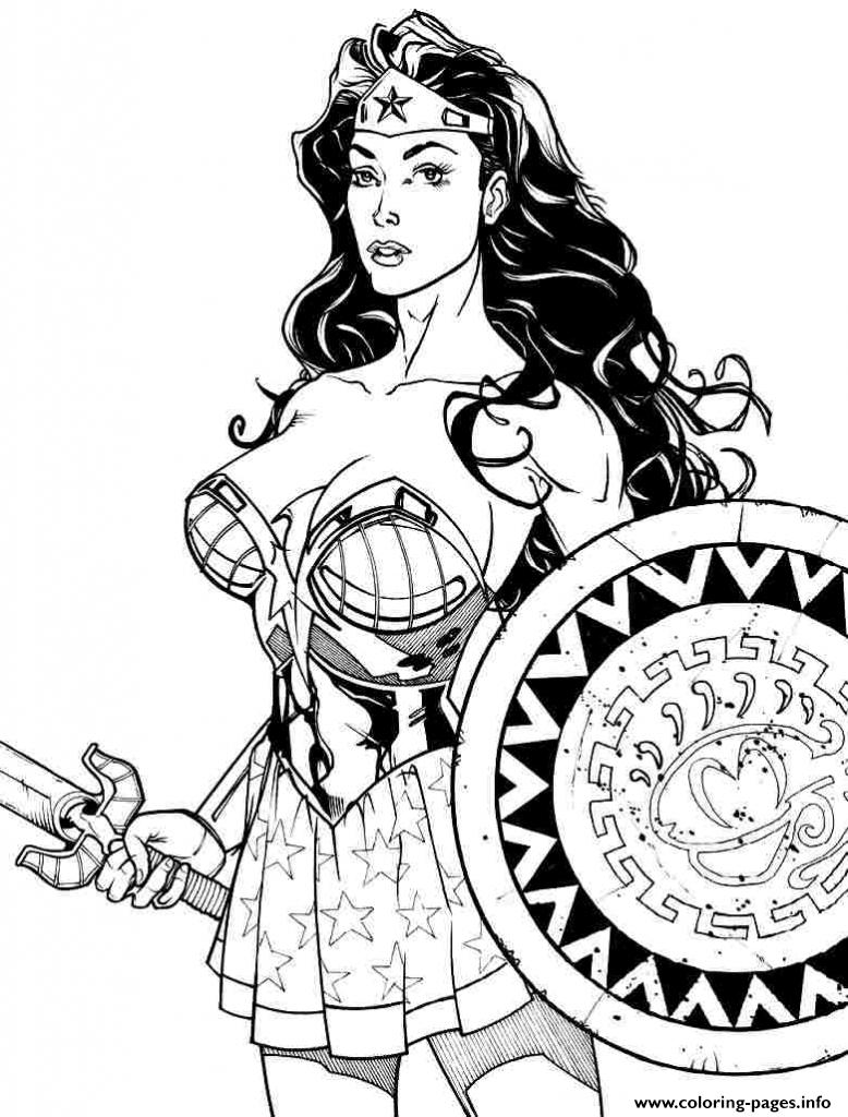 778x1024 Wonder Woman Power Girl Coloring Pages Printable
