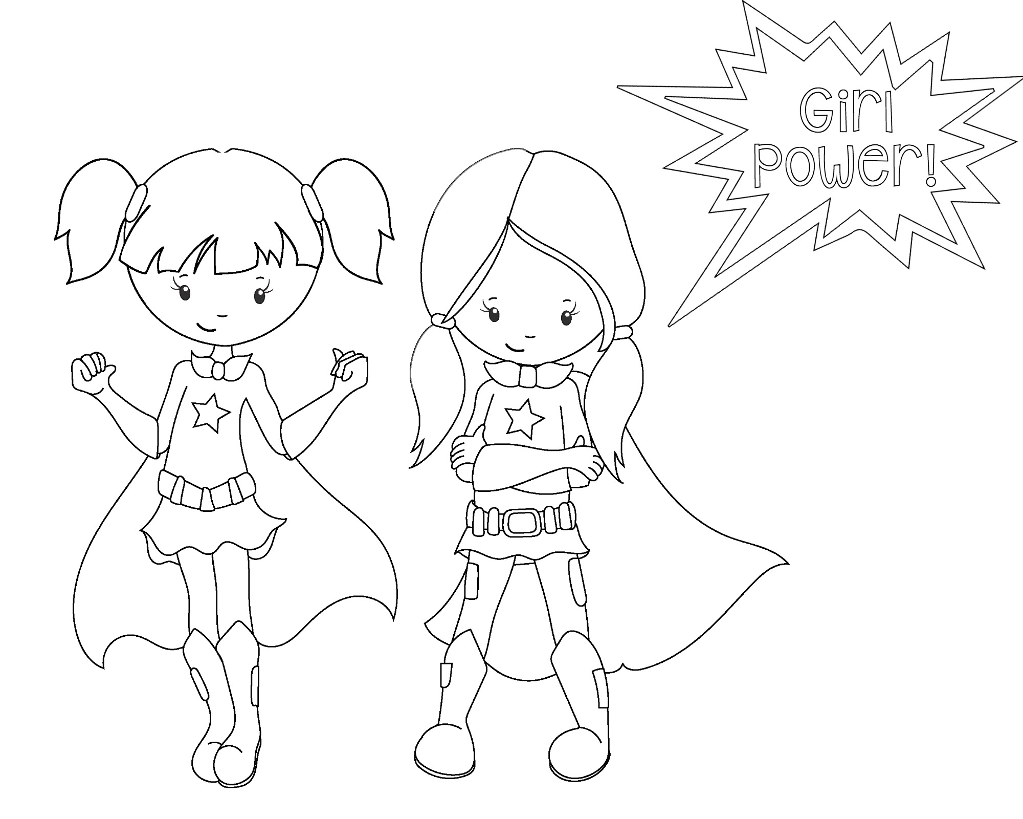 2000x1600 Girl Superhero Coloring Pages Free Download