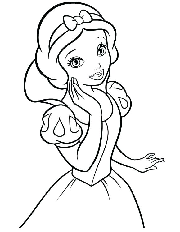 Girl Princess Coloring Pages