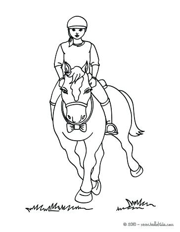 Girl Riding Horse Coloring Pages