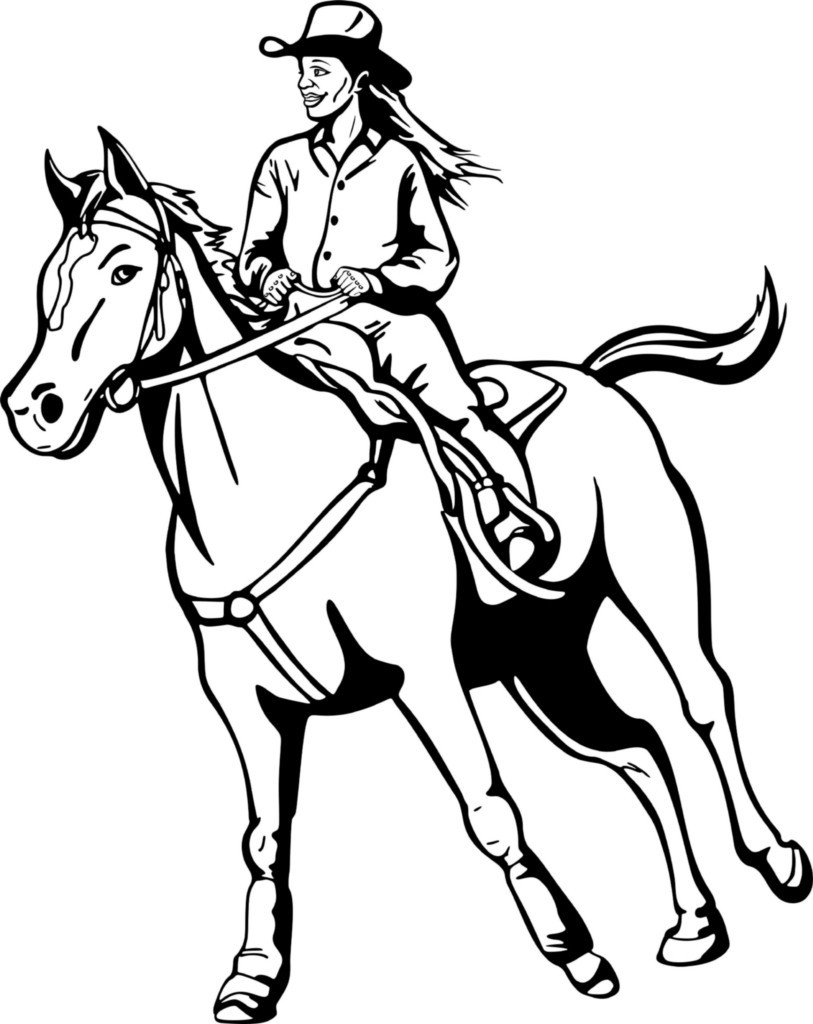 813x1024 Cowgirls Coloring Pages