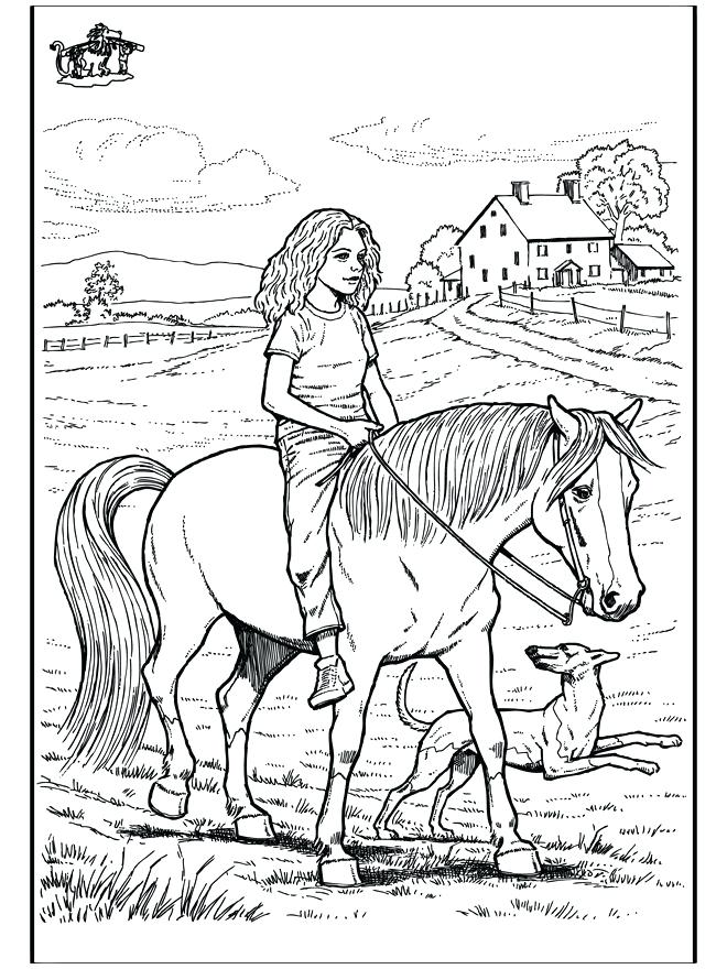 660x880 Girl Riding Horse Coloring Pages Download And Print For Free