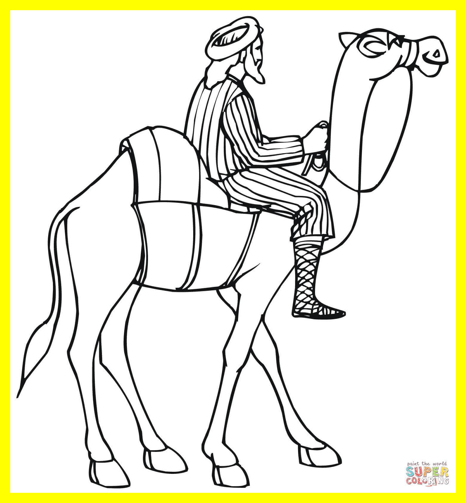 1568x1692 Amazing Riding A Camel Coloring Page Printable For Girl Horse