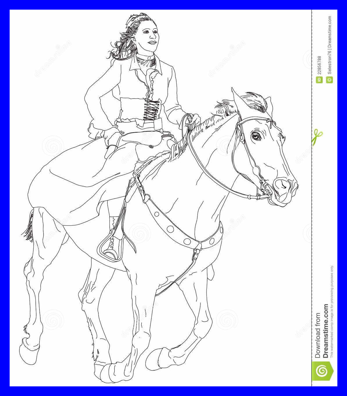1196x1366 Incredible Girl Riding A Horse Stock Vector Illustration Of Female