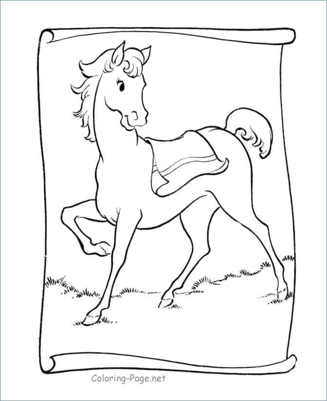 670x820 Little Girl Riding Horse Animal Coloring Pages