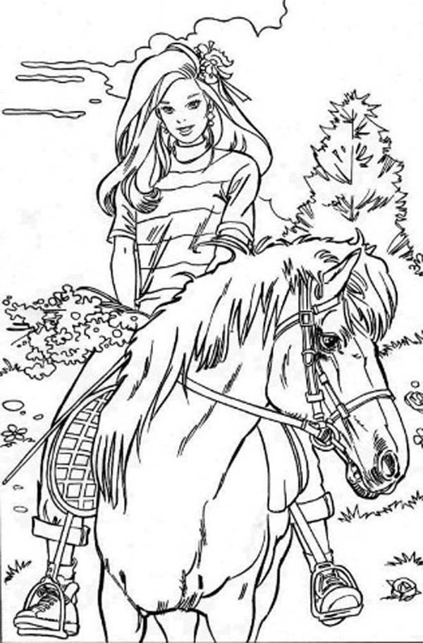 600x911 Coloring Pages For Girls To Print Out Barbie Tv Show Coloring