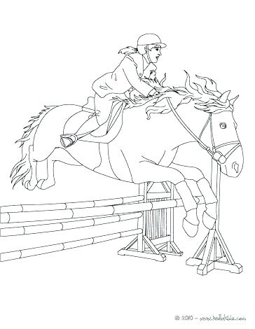 364x470 Boy Riding Horse Coloring Pages Printable Coloring Horse Racing