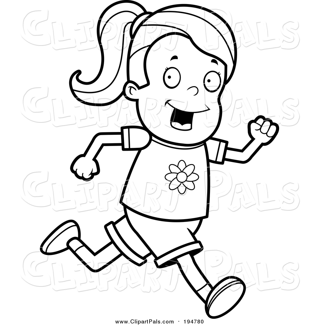 1024x1044 Pal Clipart Of A Lineart Running Girl