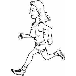 300x300 Runner Girl Coloring Page