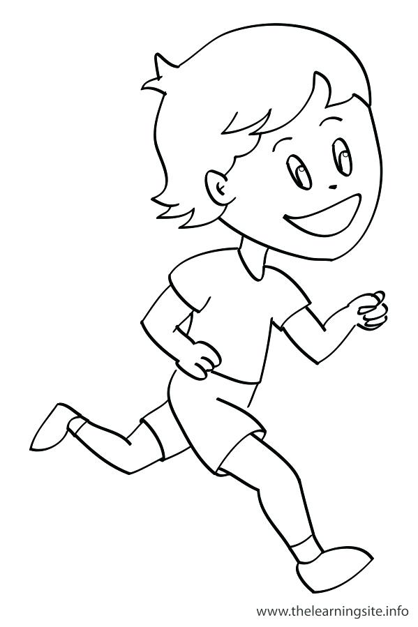 599x899 Running Coloring Pages Coloring Pages Of Running Kids Drawing