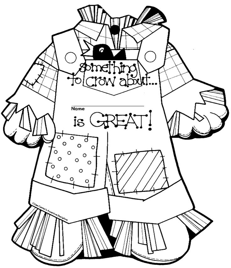 graphic regarding Printable Scarecrow Coloring Pages identify Female Scarecrow Coloring Website page at  Free of charge for
