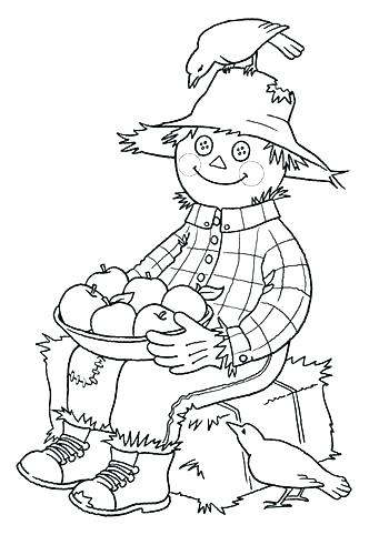 350x482 Scarecrow Coloring Page S Is For Scarecrow Coloring Page Scarecrow