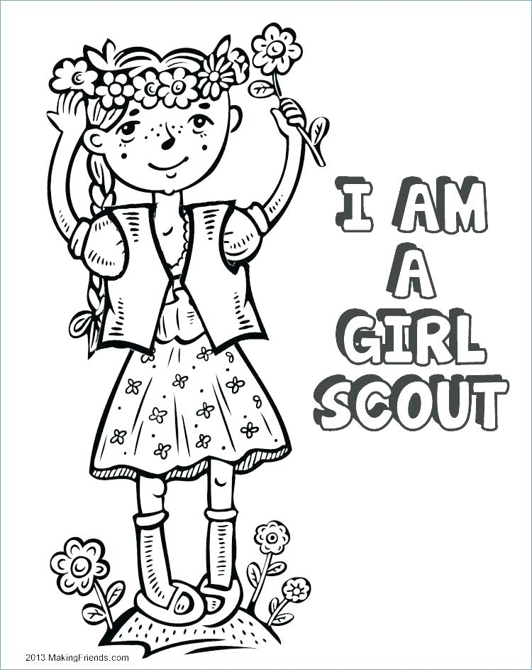 Girl Scout Brownie Coloring Pages