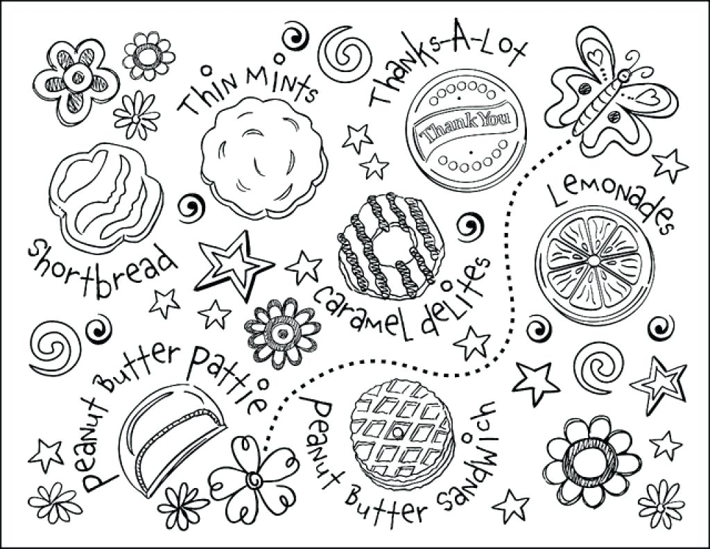 1024x792 Focus Girl Scout Cookie Coloring Pages Scouts At Me