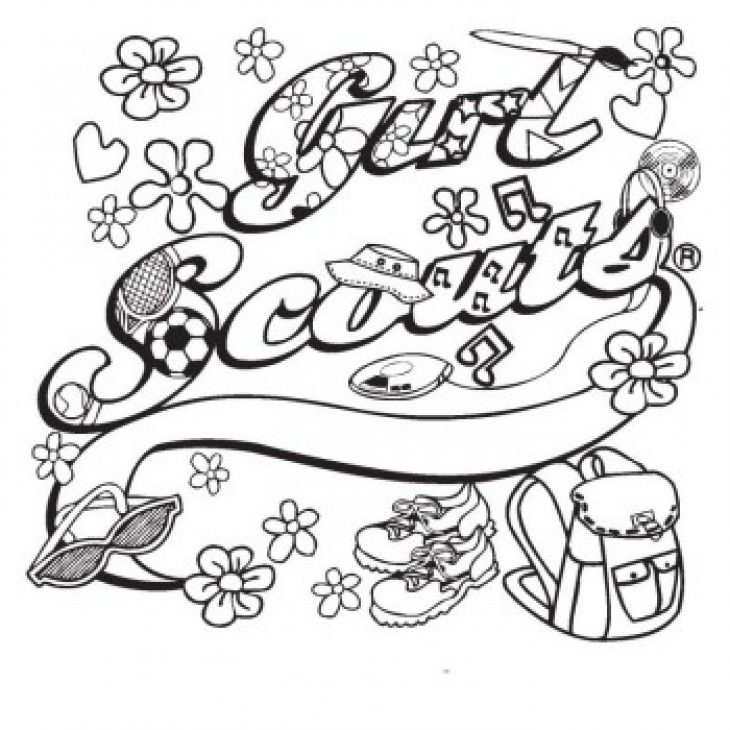 730x730 Girl Scouts Coloring Pages
