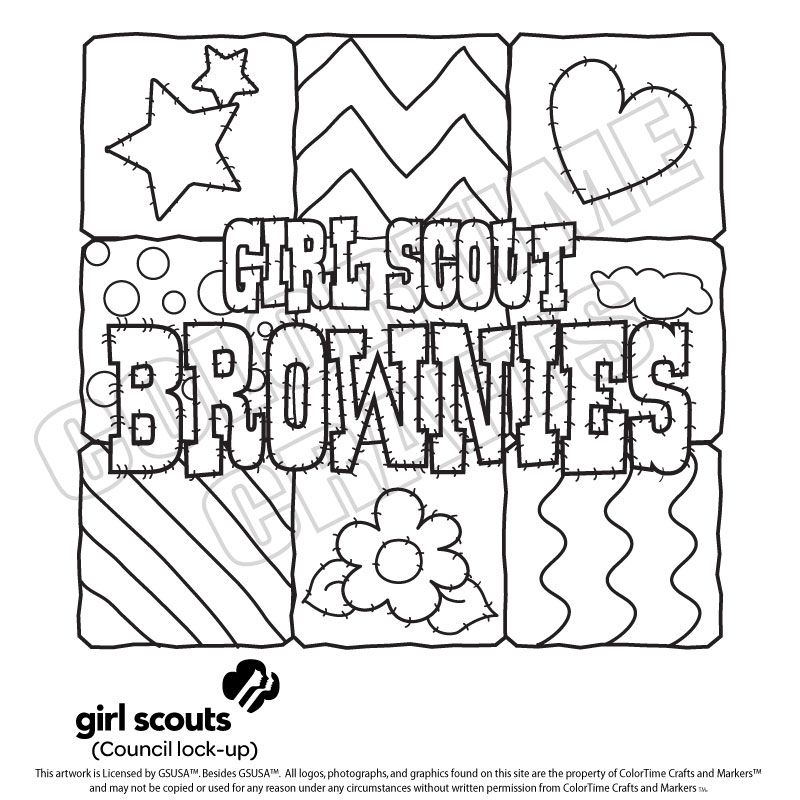800x800 Girl Scout Coloring Pages For Brownies Girl Scouts