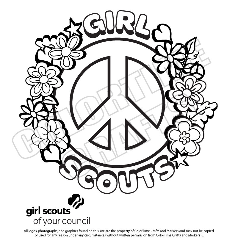800x800 Girl Scout Birthday Coloring Pages Girl Scout Printables Bing