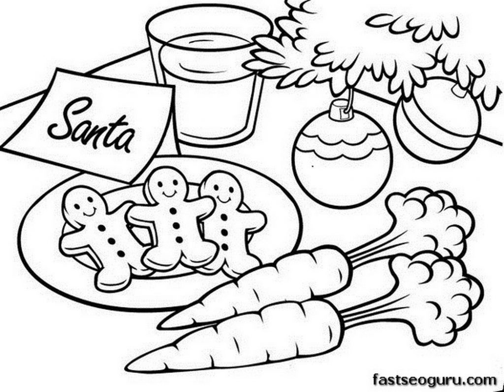 1024x797 Christmas Cookie Coloring Pages Gallery Coloring For Kids