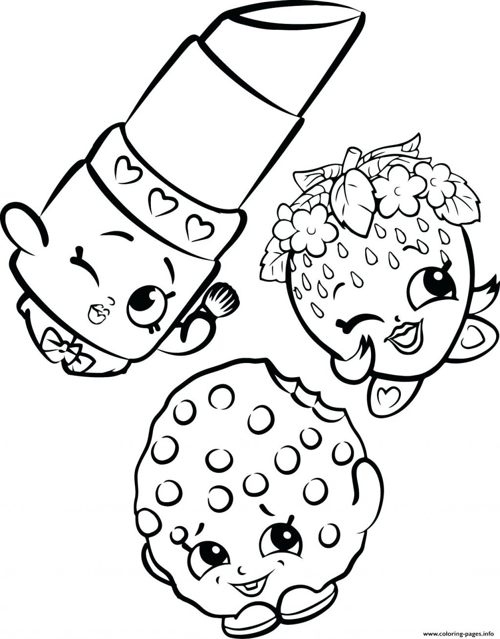 1024x1308 Coloring Page Cookie Coloring Page Free Strawberry Lipstick