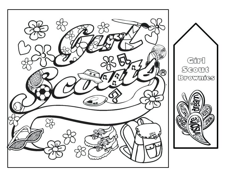 736x552 Girl Scout Coloring Page