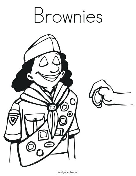 468x605 Girl Scout Coloring Page