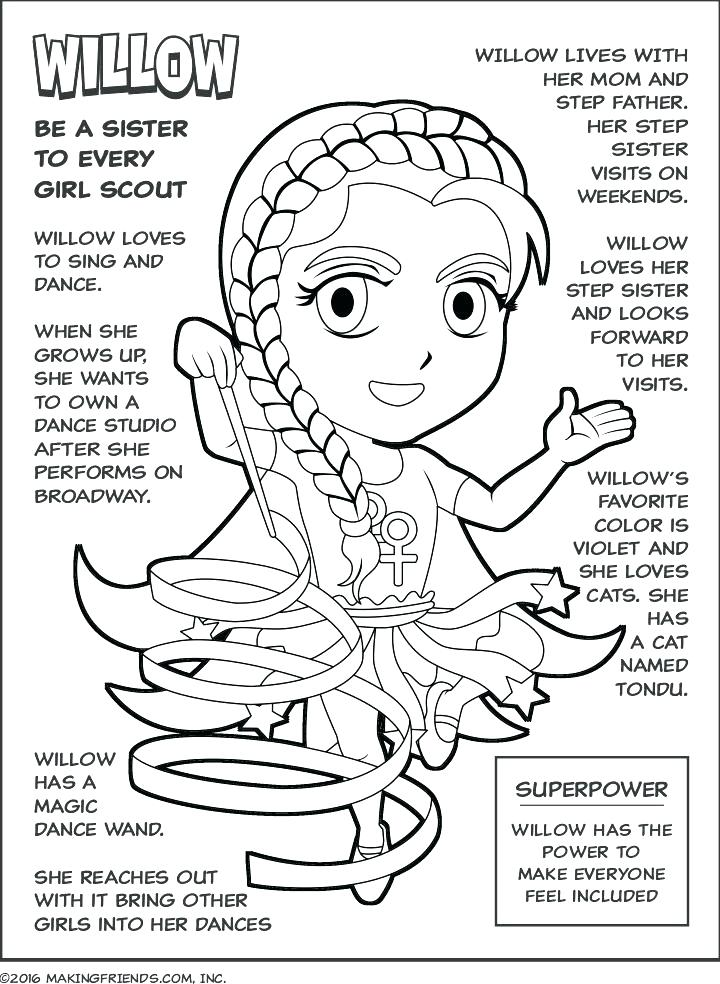 720x984 Coloring Pages For Girl Scouts Girl Scout Coloring Pages Holiday