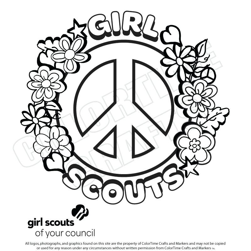 800x800 Daisy Girl Scout Coloring Pages Free Kids Coloring Girl Scout