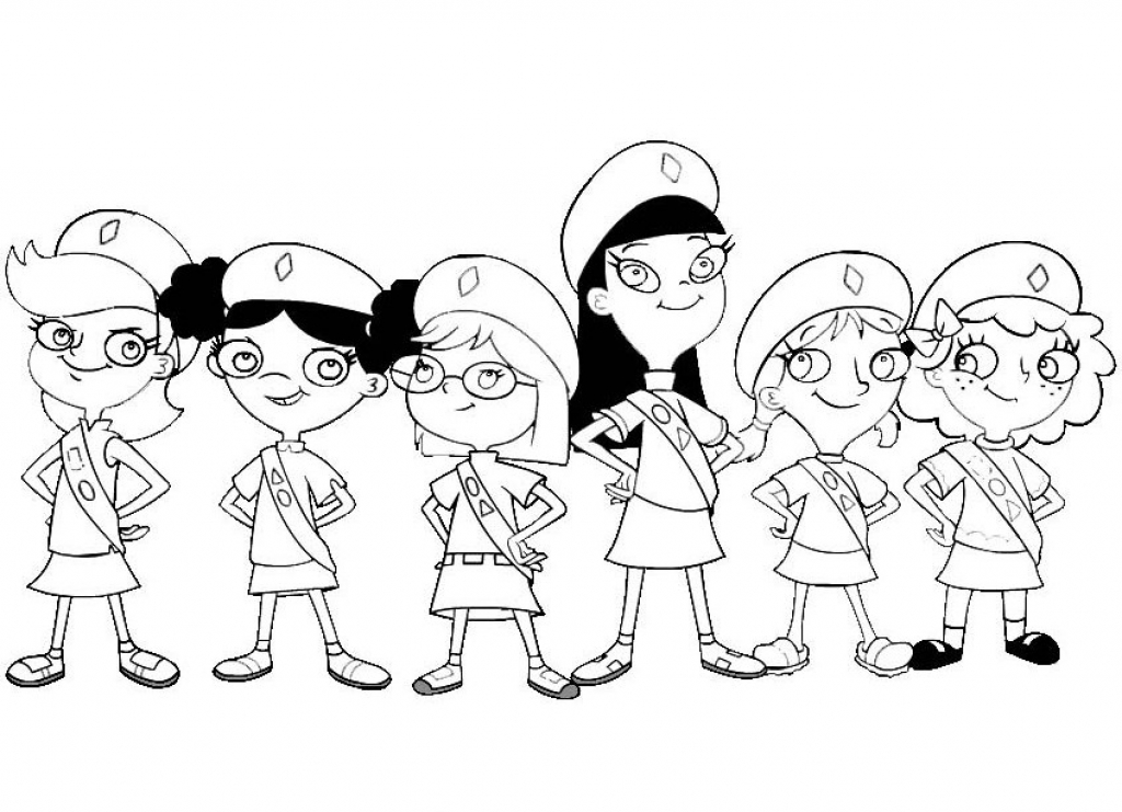 1024x741 Girl Scout Coloring Pages