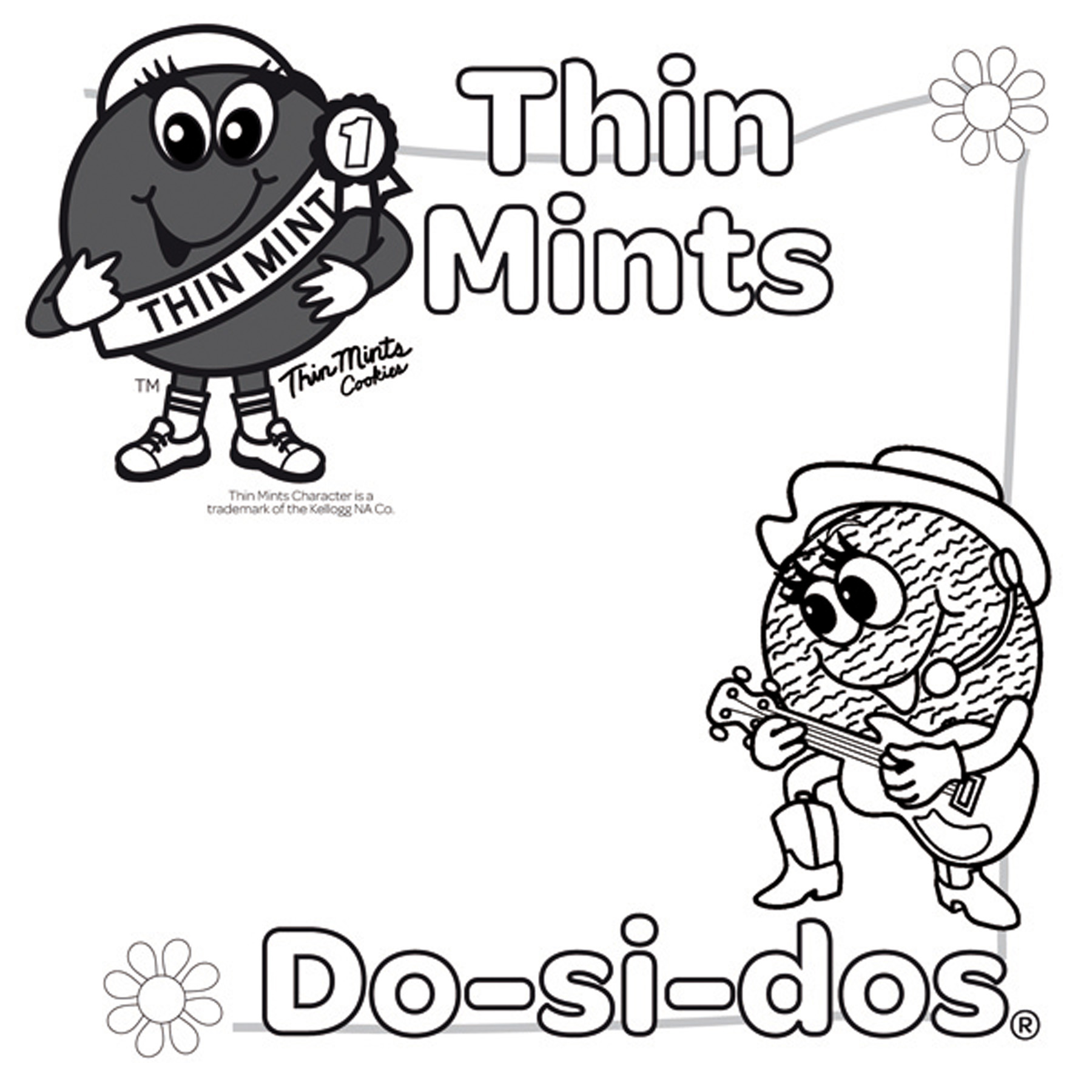 1800x1800 Girl Scout Coloring Pages For Juniors