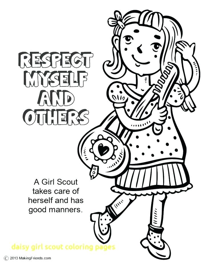 736x925 Girl Scout Coloring Pages Or Girl Scout Promise Coloring Page