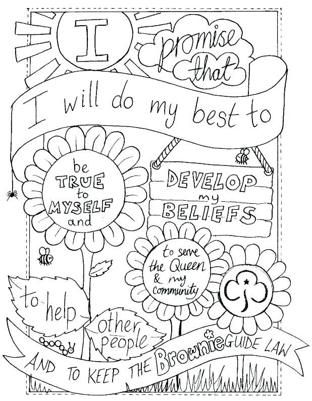 618x795 Girl Scout Daisy Coloring Pages Coloring Pages For Girl Scouts