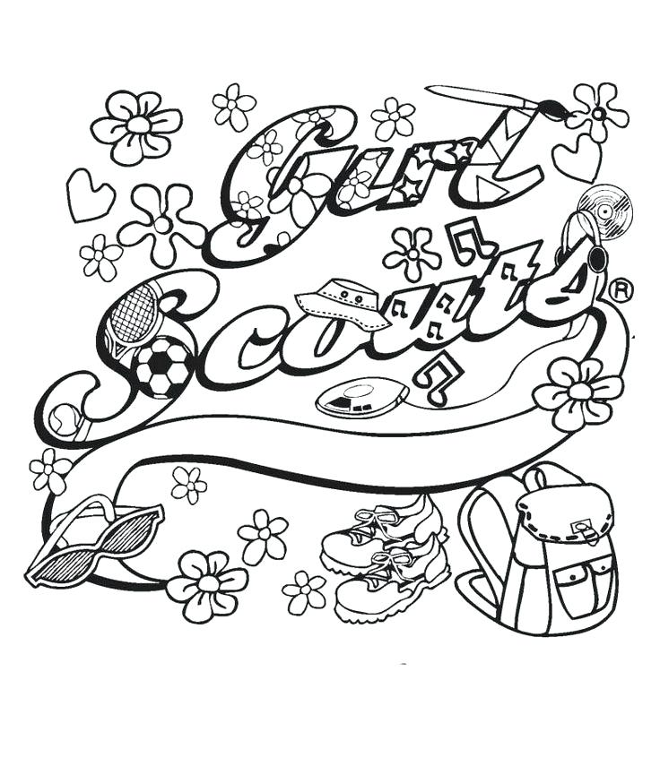736x865 Girl Scouts Coloring Pages