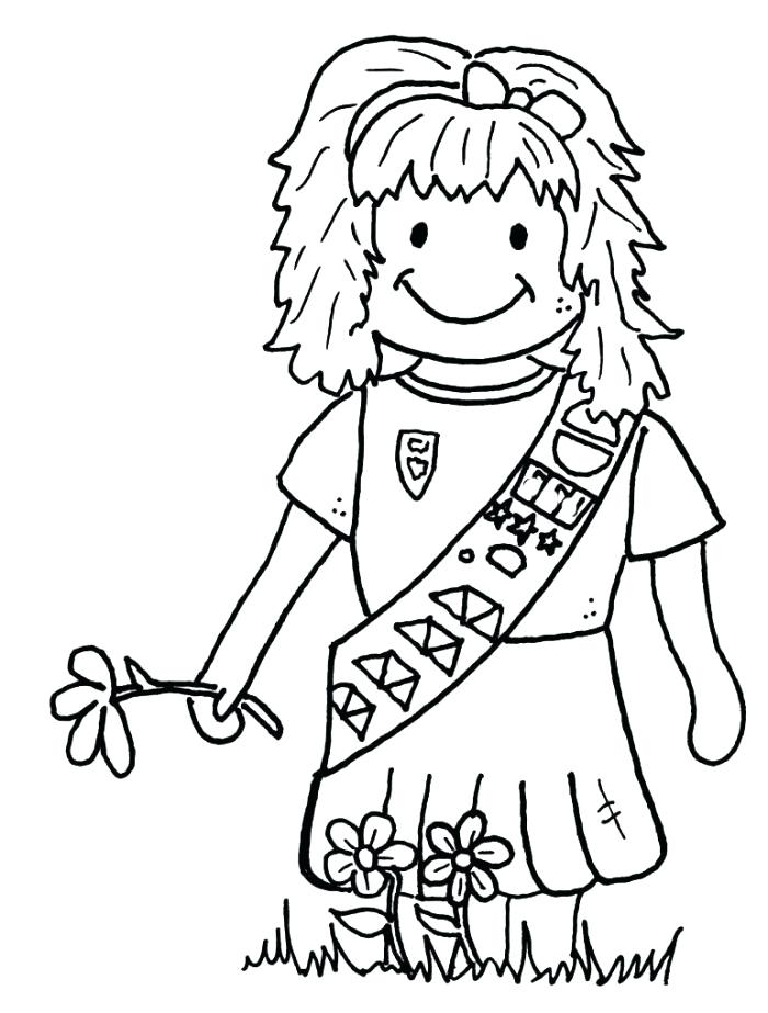 700x923 Coloring Pages For Girl Scouts Daisy Girl Scout Coloring Pages
