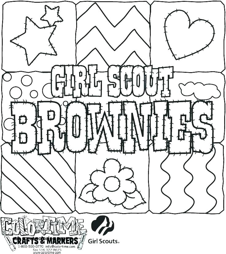 Girl Scout Coloring Pages At Getdrawings Com Free For Personal Use