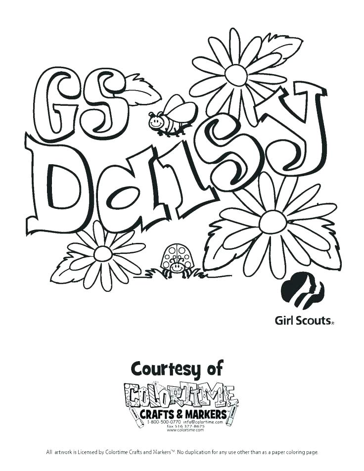 736x952 Daisy Coloring Pages Best Coloring Book Daisy Girl Scout Coloring
