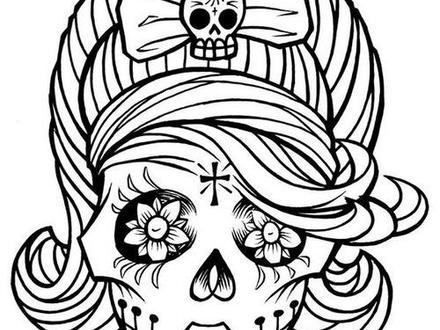 Girl Skull Coloring Pages