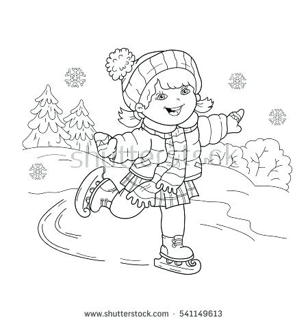 450x470 Sports Coloring Page Coloring Page Outline Of Cartoon Girl Skating