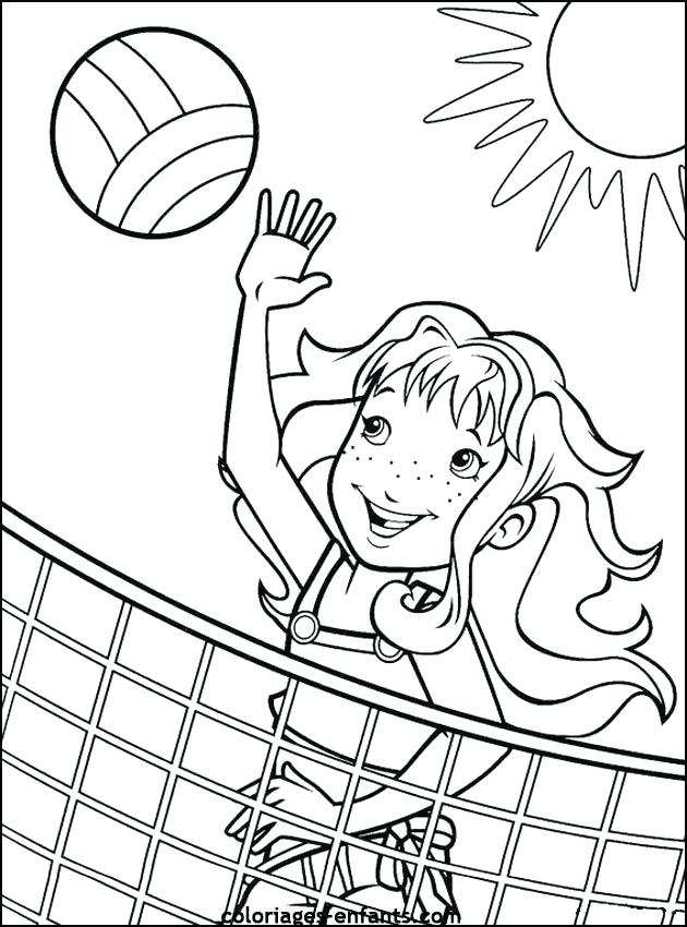 630x850 Sports Coloring Pages Sport Volleyball Coloring Pages For Girls