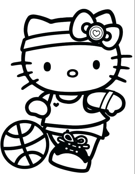 518x666 Sports Coloring Pages Sports Coloring Pages Sport Hello Kitty