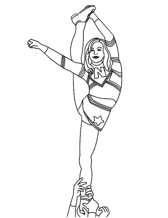 Girl Standing Coloring Pages